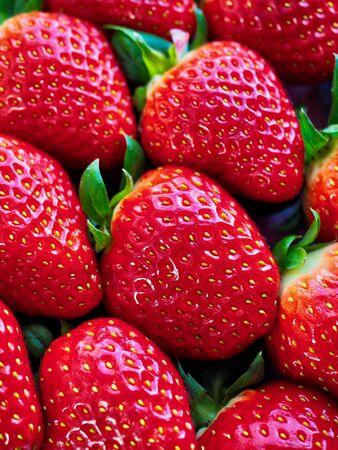 Korean fresh organic fruit strawberry 写真素材
