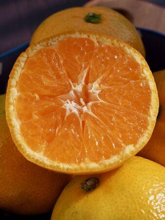 Fresh Korean fruit Jeju citrus, mandarin, tangerine Stock fotó