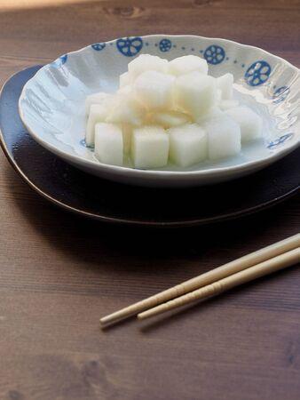 Cuisine asiatique Radis mariné, Radis de poulet Banque d'images