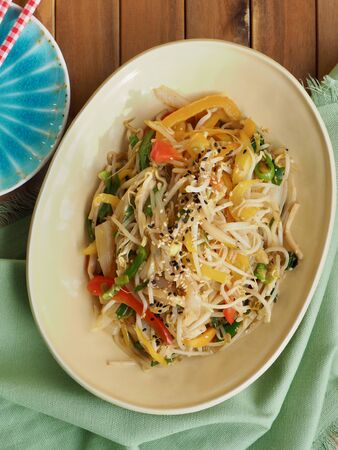 Asian food Fried bean sprout vegetables