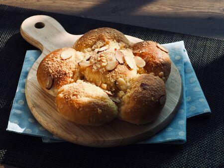Fresh round sweet cream bread