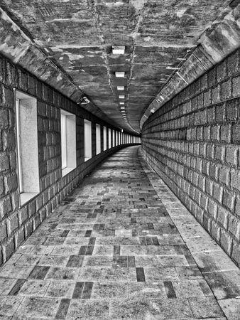 Seoul City Tunnel, Monochrome photography 写真素材