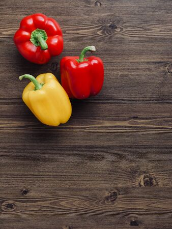 Fresh Organic Vegetables Yellow and Red Paprika