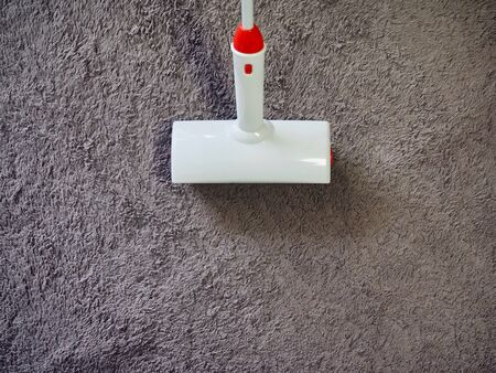 Carpet and White Cleaning Supplies Roll Cleaner 写真素材