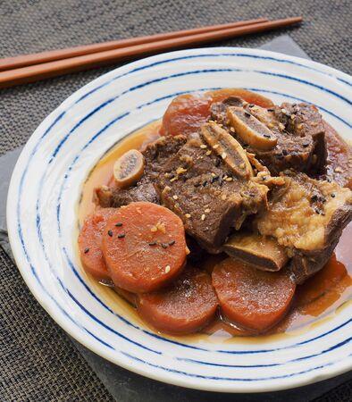 Korean food steamed beef ribs