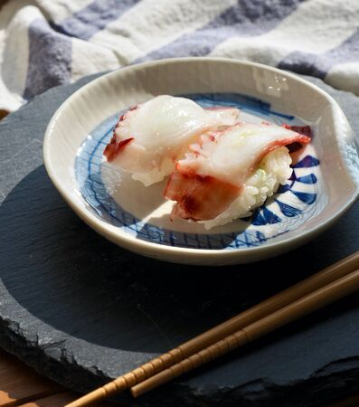 Japanese traditional food octopus Sushi