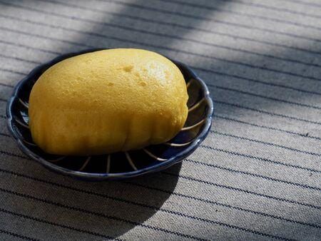 Asian food yellow rice cake