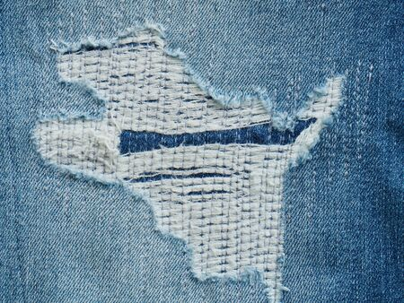 Denim jeans background, Cotton fabric