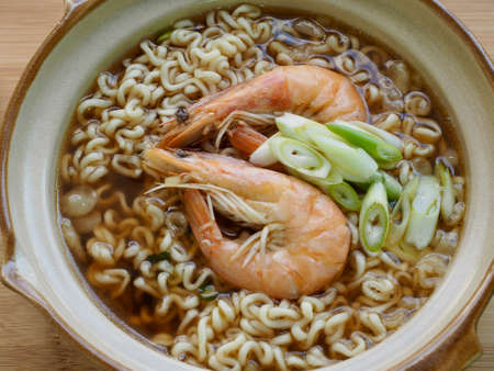 Asian Food Shrimp Udon, Noodles