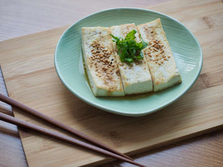 Asian traditional food grilled tofu