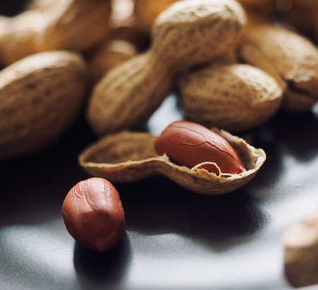 Organic nuts peanuts, food, snacks