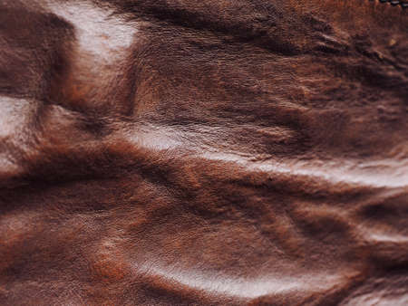 Crumpled Brown Cowhide Background Image Reklamní fotografie