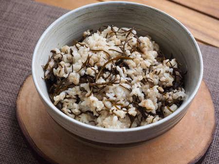 Asian food seaweed rice