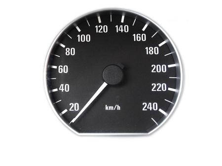 chilometro: Un tachimetro su sfondo bianco