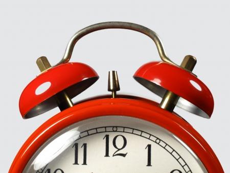 Alarm clock op de voorgrond