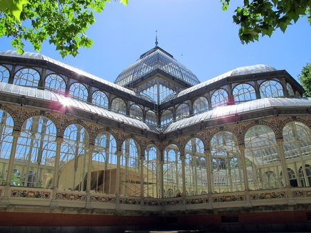 View of crystal Palace El Retiro in Madrid Spain