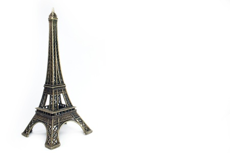 a Eiffel Tower on a white background photo