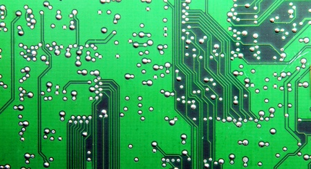 a tracks from an electronic circuit board photo