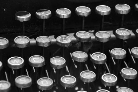 typewriter key: typewriter 30 years old Stock Photo