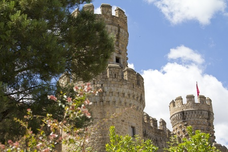 prominence: medieval castle in Manzanares del Real, Spain