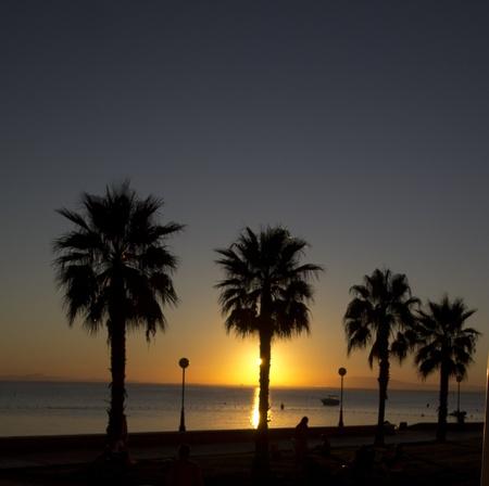 beautiful sunset at sea photo