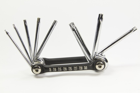 Pack of chrome torx keys photo