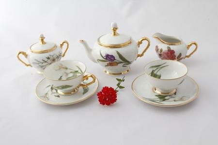 old china teapot 18 century photo