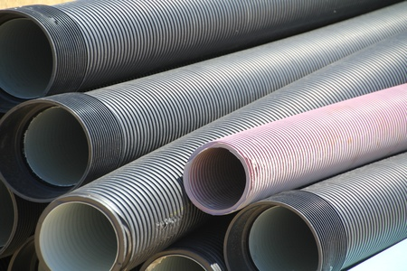 plastic pipes for pipelines Stock Photo - 10934898