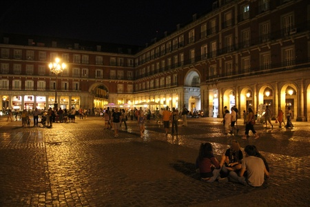 inquisition: night famous Plaza Mayor Madrid Spain