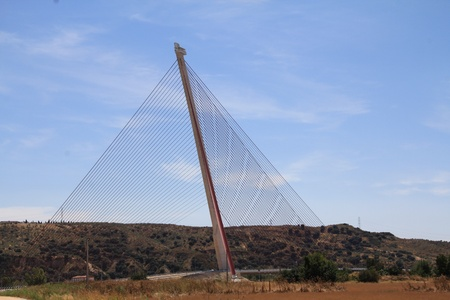 Cable-stayed bridge Talavera de la Reina, Spain photo