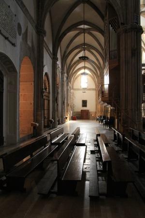 inside a former Catholic church