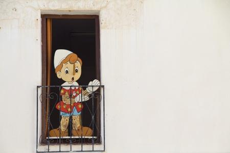 beautiful wooden doll photo