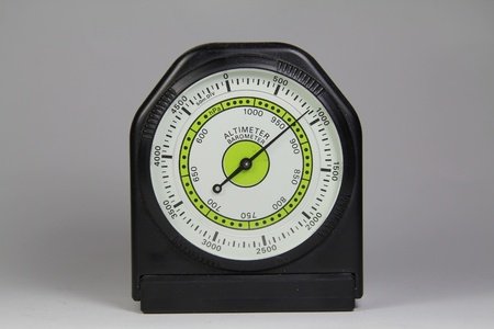 altimeter: Altimeter barometer with white background