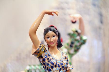 Flamenco dancer in ceramics photo