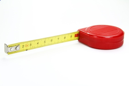 meter to measure in red on a white background Stock Photo
