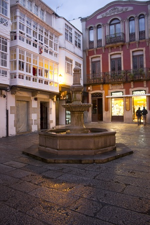 small town on the coast of Galicia (Viveiro, Spain)