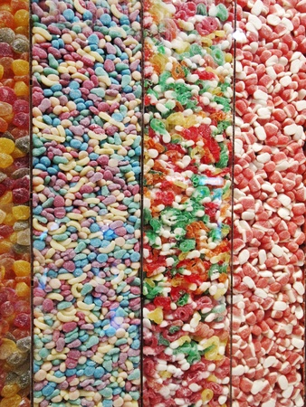 display multi-colored candy photo