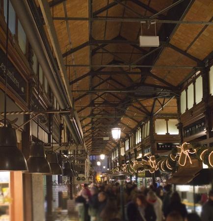 Madrid - DEC 22: typical old market on DEC 22, 2011 in Madrid Spain