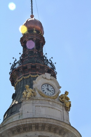 Old clock on top of a tower artistic Stock Photo - 12350096