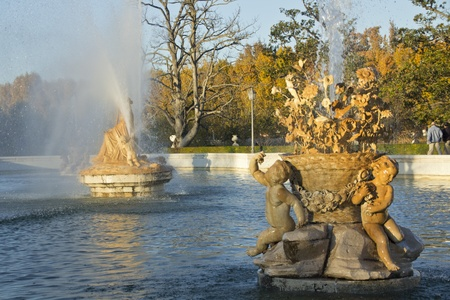 ornamental fountains of the Palace of Aranjuez, Spain Stock Photo - 12298873