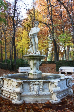 ornamental fountains of the Palace of Aranjuez, Spain