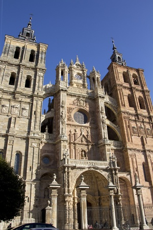 details of the famous Catholic cathedral in Astorga, Spain photo