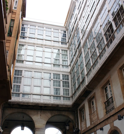 typical street of Coruna, Spain Stock Photo - 12298805