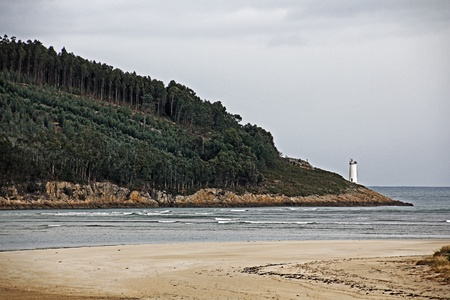 Typical coastline in Galicia Spain photo