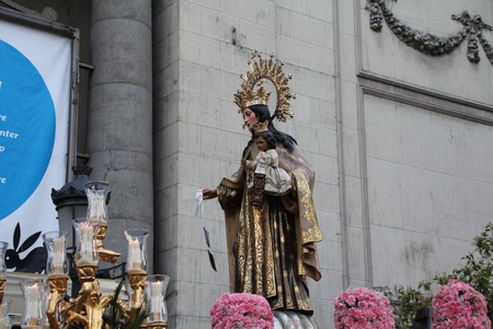 Figure of the Virgin in a procession