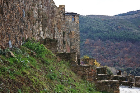 Medieval Templar Castle of year 1178 in Ponferrada, Spain photo
