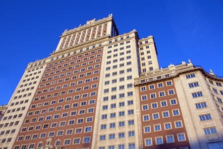 modern buildings in Madrid, Spain
