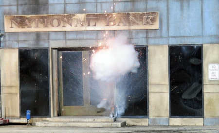 Simulated Explosion during exihibicion Stock Photo - 12298895