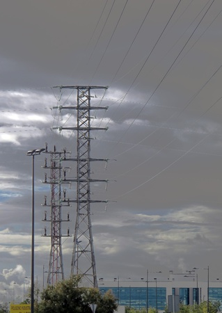 power line towers photo