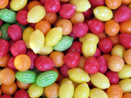 bright colorful candy green orange red